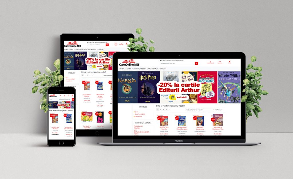 Creare magazin online de carti