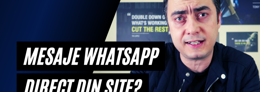 Mesaje de tip Whatsapp sau Facebook Messenger direct din site, in loc de chat