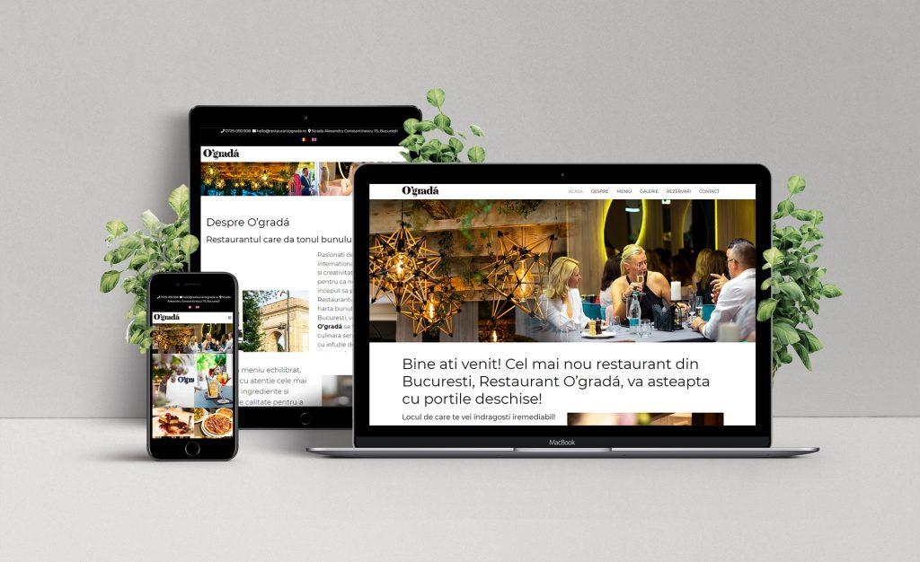 Crearea siteului de prezentare al Restaurantului Ograda, din Bucuresti