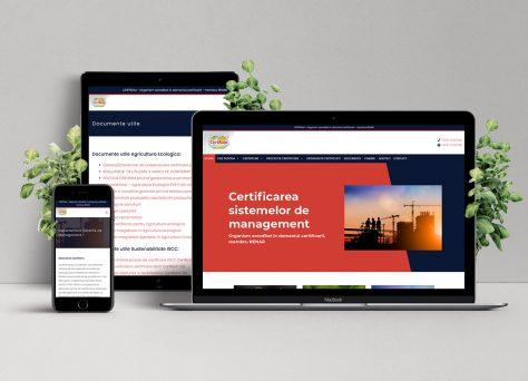 Creare site de prezentare Certrom
